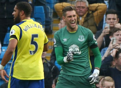 Maarten Stekelenburg celebrates a penalty save.