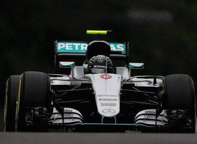 Mercedes driver Nico Rosberg during qualifying Suzuka.