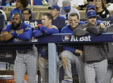 Cubs: haven't scored since the eighth inning of Game 1.