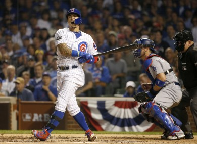 Javier Baez and the Cubs couldn't find a way past Kershaw on Sunday night.