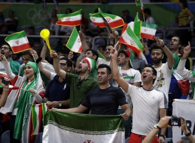 Iran football fans (file pic).