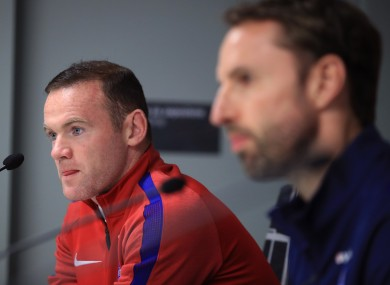 Rooney still appeared at today's pre-game press conference.