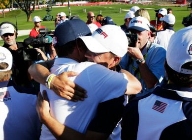 USA celebrate winning the Ryder CUp