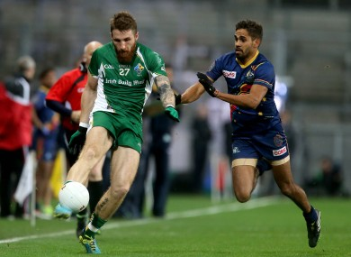 Zach Tuohy in action for Ireland in the 2013 International Rules series.