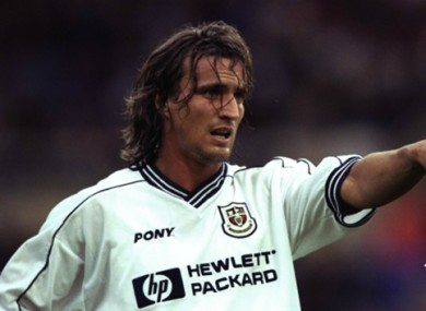 Former Tottenham player David Ginola (file pic).