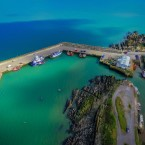 Aubrey Martin of Meath took some aerial shots of the pier on a visit to shoot some seascapes.