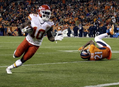 Tyreek Hill helped the Chiefs to a high-profile win Sunday.