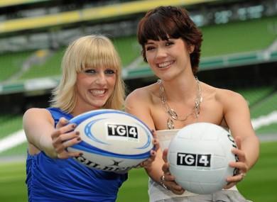 TG4 presenters Máire Treasa Ní Dhubhghaill and Gráinne McElwain.