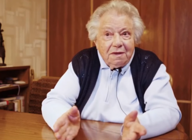 Holocaust survivor Gertrude, who speaks out about far-right politics in the video