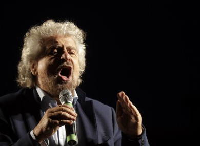 Beppe Grillo of the Five Stars Movement is campaigning for referendum No vote.