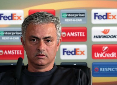 Manchester United manager Jose Mourinho during the press conference at the Aon Training Complex, Carrington.