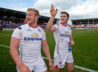 Olding and Jackson in the Ulster colours.