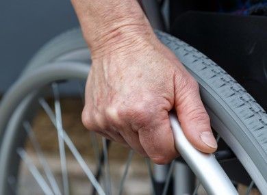 The woman had been in a wheelchair since coming out of hospital.