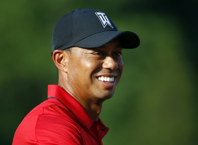 Woods: first competitive action in 15 months.