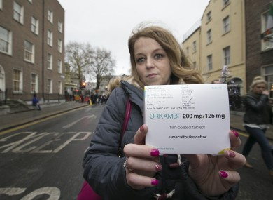 CF campaigner Jillian McNulty outside Leinster House