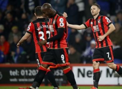 Bournemouth players celebrate.