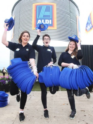 Aldi staff at the National Ploughing Championships 2016 at Screggan, Tullamore, Co Offaly.