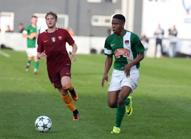 Ogbene facing Roma for Cork City's U19s in the Uefa Youth League.