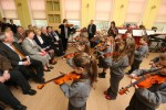 File: Children from St Agnes Community Centre for Music and Arts in Crumlin perform for Sabina Higgins and the board of management.