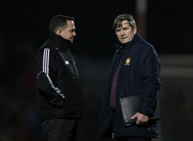 Father and son: Davy and Pat Fitzgerald.