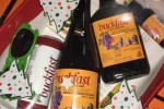 An off licence in Armagh is selling these 'Buckfast Christmas hampers'