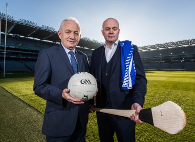 Munster football manager Ger O'Sullivan and Munster hurling manager Anthony Daly (right).