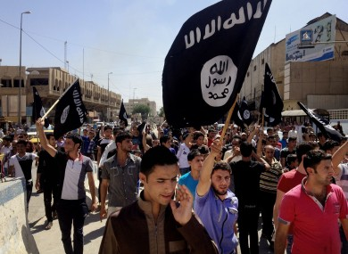 File photo of Isis supporters in Mosul, Iraq.