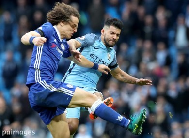 Sergio Aguero's challenge sparked a furore at the end of City's clash against Chelsea.