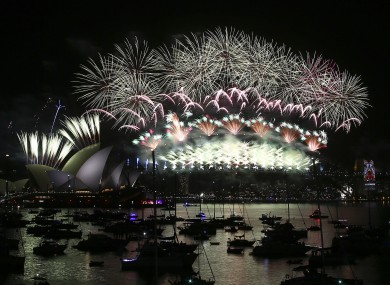 Firework scenes from New Year's Eve celebrations in Sydney last year.