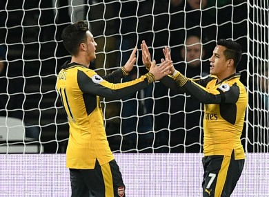 Arsenal duo Mesut Ozil and Alexis Sanchez
