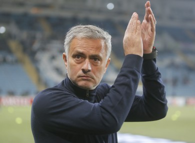 Mourinho's side will be unseeded for next week's draw.