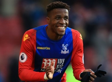 Wilfried Zaha has impressed in the Premier League with Crystal Palace this season.