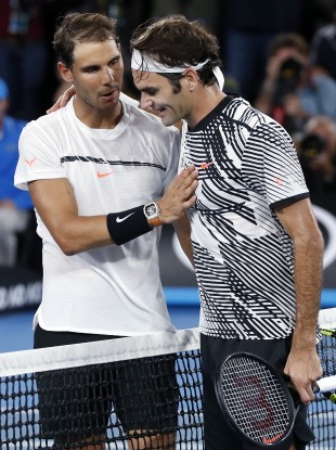 Federer and Nadal after the final.