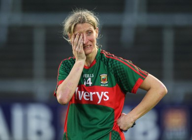 Cora Staunton after defeat in the All-Ireland semi-final to Dublin in 2016.