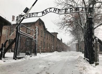 The gates to Auschwitz.