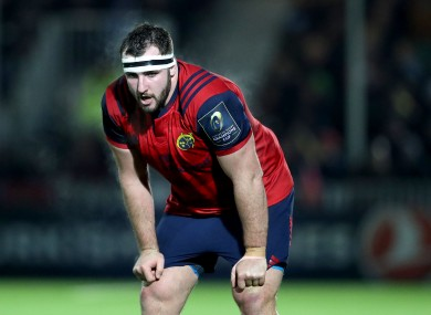 Munster's James Cronin is set for an extended absence through injury.