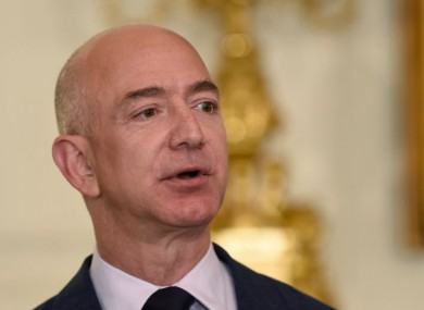 Jeff Bezos, founder and CEO of Amazon, speaks at the White House in May.