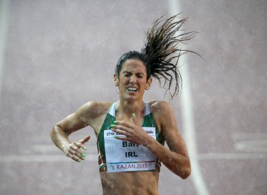 Barr in action at the World University Games, Kazan 2013.