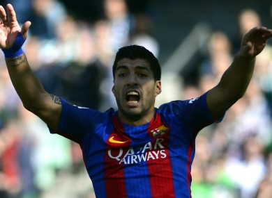 Luis Suarez felt Barcelona were hard done by today.