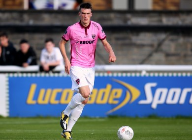 Ryan Delaney in action for Wexford Youths last July.
