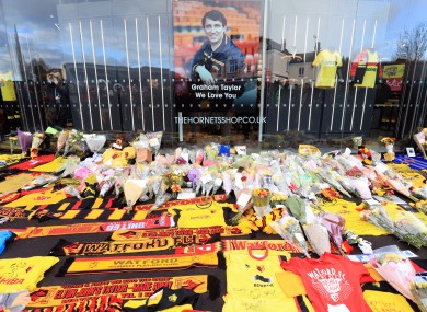 There were displays at Vicerage Road.