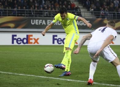 Jeremy Perbet fires Gent to victory in Belgium.