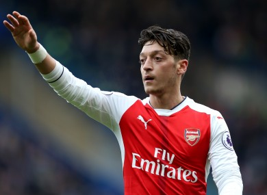 Arsenal's Mesut Ozil has been criticised for recent performances.