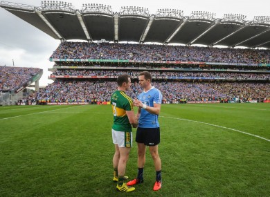 Mark Griffin and Dean Rock: tickets already snapped up for Kerry v Dublin on 18 March.