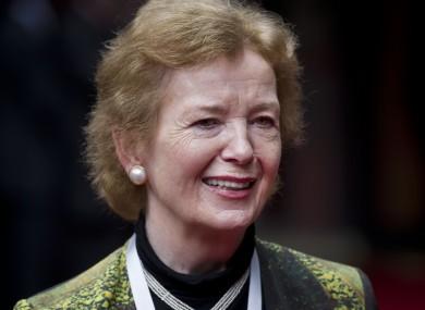 Former President Mary Robinson