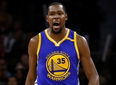 Outspoken: Golden State Warriors star Kevin Durant.