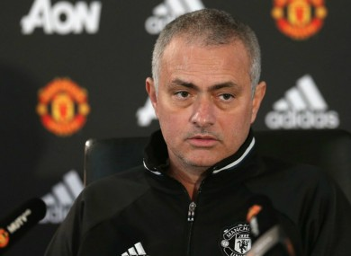 Mourinho speaking at today's press conference.