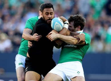 Tuipulotu featured in the All Blacks' Chicago defeat to Ireland.