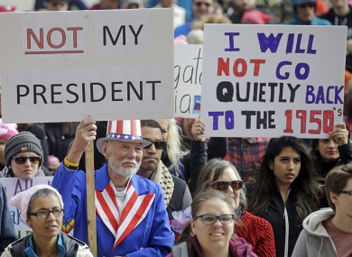 'He's hurting our country': Thousands protest against ...