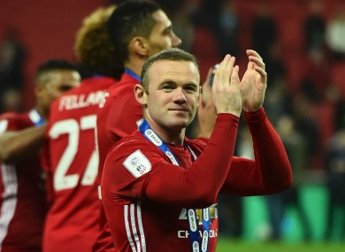 Wayne Rooney didn't  feature in Sunday's EFL Cup final.